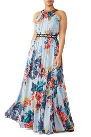 Floral Grommet Maxi by Badgley Mischka
