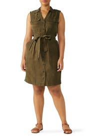 Green Cargo Dress by Slate & Willow