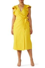 Yellow Walker Dress by A.L.C.