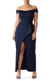 Midnight Padma Gown by Black Halo