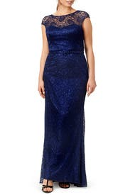 Shimmering Element Gown by Theia