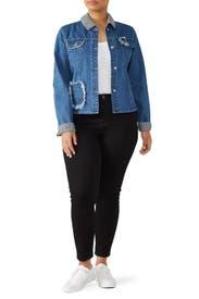 Girls Gingham Denim Jacket by Samantha Sipos