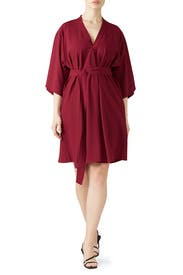 Tie Front V-Neck Dress by Tome