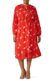 Diana Shirred Shirtdress by B Collection by Bobeau
