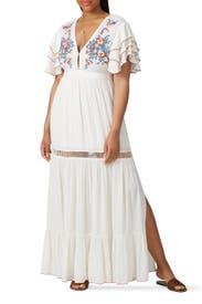 White Daphne Dress by Cleobella