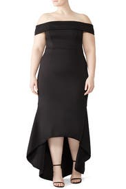 Leta High Low Gown by Black Halo