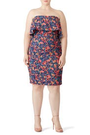 Floral Popover Sheath by Badgley Mischka