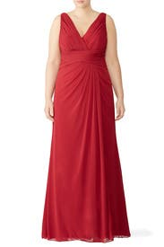 Red Maria Gown by WATTERS