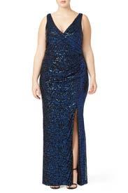 Ombre Astor Gown by Badgley Mischka