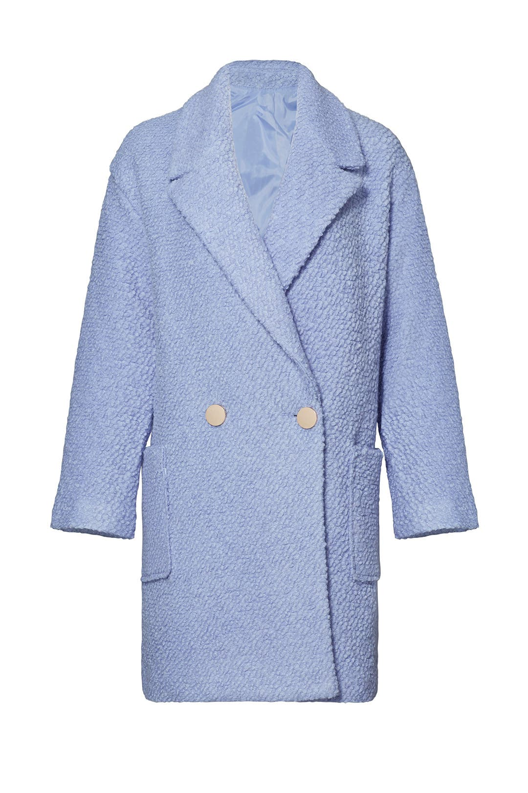 a3db12c2463d Powder Blue Oversized Boucle Coat by English Factory for $30   Rent the  Runway