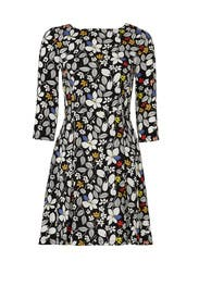 Crisp Floral Print Dress by Suno