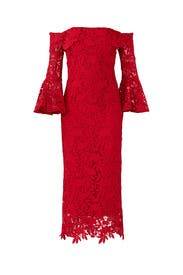 Red Harrison Dress by Shoshanna