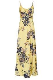 Yellow Floral Gown by Jill Jill Stuart