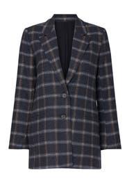 Grey Plaid Billie Blazer by Habitual