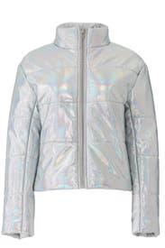 Sharpe Hologram Puffer Coat by VEDA