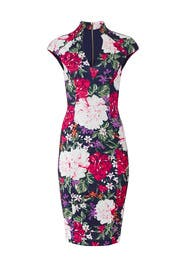 Floral Collared Sheath by Alexia Admor