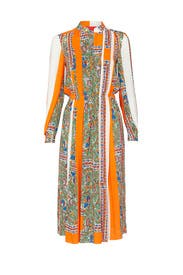Printed Long Sleeve Dress by Tory Burch