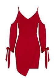 Red Tie Cuff Sheath by Adelyn Rae