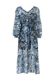 Blue Floral Paisley Maxi by The Kooples