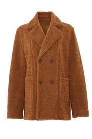 Caramel Faux Fur Coat by Moon River