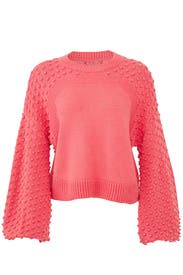 (nude) - Pink Pom Sleeve Sweater