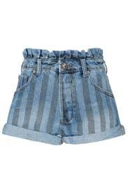 Zephyr Bandits Mid Waist Denim Shorts by One Teaspoon