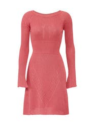Pink Ribbed Dress by PINKO