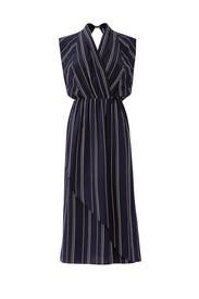 Stripe Draped Front Dress by VINCE.