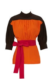 High Neck Colorblock Top by Marni