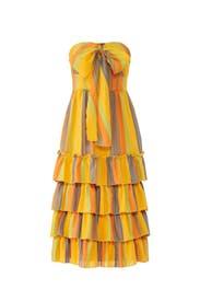 Strapless Imperial Midi Dress by La Maison Talulah
