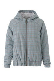 Check Hooded Puffer Jacket by MINKPINK