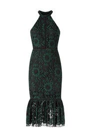 Green Over Black Dress by Alexia Admor