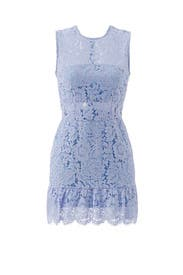 Periwinkle Felicia Lace Mini Dress by Karina Grimaldi