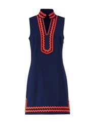 Orange Trim Ric Rac Dress by Sail to Sable