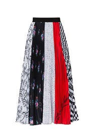 Multi Print Midi Skirt by MSGM