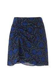 Ruched Floral Skirt by Derek Lam 10 Crosby