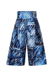 Blue Scribble Print Culottes by Milly