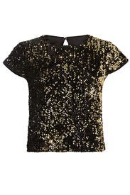 Sequin Baby Tee by Milly