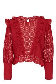 Laced Charlotte Top by Robert Rodriguez