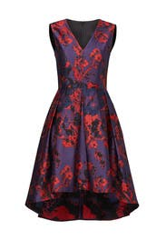 Fiery Red Floral Dress by Slate & Willow