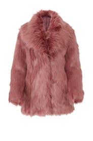 Premium Rose Faux Fur Coat by Unreal Fur