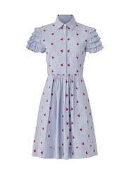 Cherry Orchard Ruffle Shirtdress by Draper James