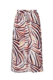 Multi Printed Midi Skirt by JUNAROSE