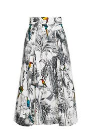 Toile Print Skirt by Milly