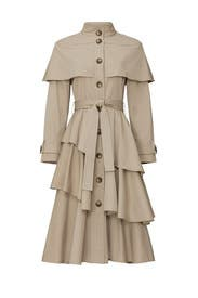 Marguerite Tiered Trench Coat by Osman