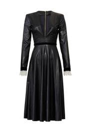 Faux Leather Midi Dress by Philosophy di Lorenzo Serafini