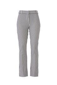 Striped Crop Flare Trousers by Derek Lam 10 Crosby