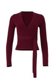 Cabernet Knit Wrap Top by Diane von Furstenberg