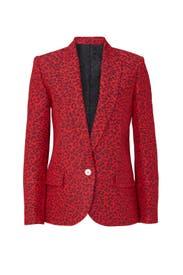 Red Leopard Blazer by Zadig & Voltaire