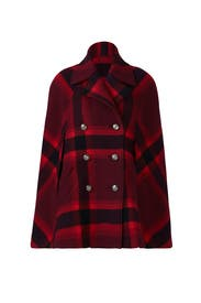 Red Plaid Lincoln Cape by Parker